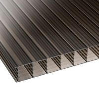 Bronze Mutilwall Polycarbonate Roofing Sheet 4000mm x 980mm  Pack of 5