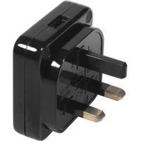 Masterplug Black 240V 13A USB Charger
