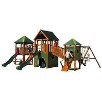 L855 x W550 Wildebeest Cedar Red Stain Wooden Play Centre