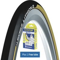 Michelin Lithion 2 Tyre Yellow + FREE Tube