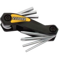 Pedros Folding Allen Key Set With Screwdrivers