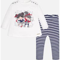 Baby girl set of leggings and long sleeve t-shirt Mayoral
