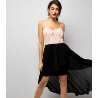 Cameo Rose Black Sequin Drop Hem Dress