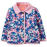 Joules Baby Girls Floral Quilted Jacket, Floral, Size 3-6 Months