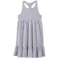 Joules Midi Stripe Dress, Blue Stripe, Size 11-12 Years, Women