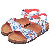Joules JOULES JUNIOR GIRLS TIPPYTOES DITSY FLORAL SANDAL, Floral, Size 11 Younger