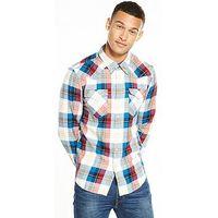 Levi's Barstow Western Shirt, Cherry Bomb, Size L, Men