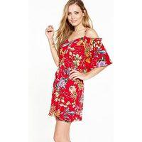 V by Very Cold Shoulder Dress, Print, Size 10, Women