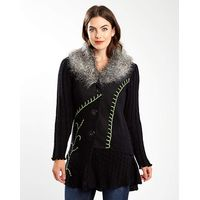 Joe Browns Funky Fur Trim Cardigan