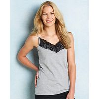 Pack of 2 Lace Trim Camisoles