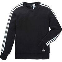 Adidas 3 Stripe Crew Neck Sweat