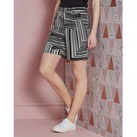 Stripe Jersey Tie Waist Shorts