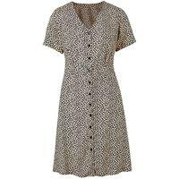 Black Print Tea Dress