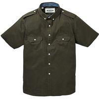 Jacamo Short Sleeve Khaki Military Shirt