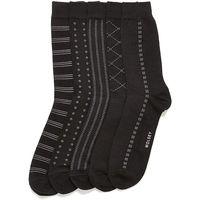 Wolsey 5 Pack Black Patterned Socks