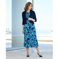 Butterfly Print Dress & Shrug L45