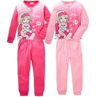 Girls Barbie Pack of Two Pyjamas