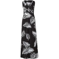 Black/Ivory V Neck Value Maxi Dress