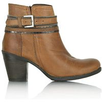 Daniel Loki Tan Leather Chain Ankle Boot