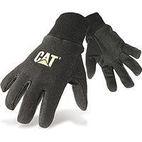 Caterpillar Jersey Dotted Gloves Large