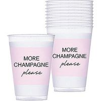 More Champagne Pink Frosted Plastic Tumblers
