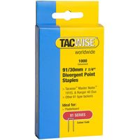 Tacwise Tacwise 91 Series 30mm Divergent Point Staples