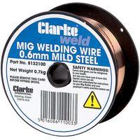 Clarke Clarke Mild Steel Welding Wire 0.6mm 0.8kg