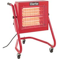 110 Volt Clarke Devil 371SP Quartz Halogen Infra-red Heater with Swivel Head (110V)