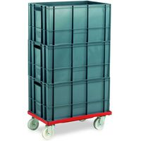 Machine Mart Xtra Barton Storage 88880-01PP/6432 Euro Container Dolly With 3 x 60ltr Containers