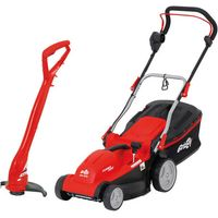Machine Mart Xtra Grizzly ERM1637G Electric Lawnmower & ERT 230 Electric Lawn Trimmer