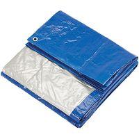 Clarke Clarke 6ft x 8ft (Approx) Blue & Silver Polyethylene Tarpaulin