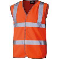 Dickies Dickies Hi-Vis Orange Safety Waistcoat - Lge