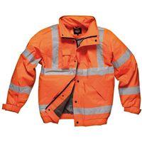 Machine Mart Xtra Dickies - GO/RT Orange Hi-Vis Bomber Jacket (Large)