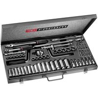Machine Mart Xtra Facom J.451EP 3/8 Drive Metric/AF 58 Piece Long and Short Reach Socket Set