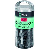 Machine Mart Xtra Wera 850/1Z Bit Ph1/25 Extra Tough Pack of 100