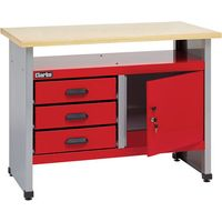 Clarke Clarke CWB114 1140mm Workbench With 3 Drawers And Lockable Cupboard