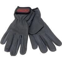 Machine Mart Xtra Oregon Black Leather Work Gloves (Large)