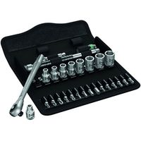 Wera Wera 8100 SA 7 28 piece Zyklop Metal-Push Ratchet Socket Set 1/4 drive
