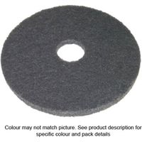 National Abrasives Floor Cleaning Pads 8 White 5 Pack
