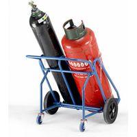 Barton Storage Barton Oxygen Propane Cylinder Trolley with Rear Wheels