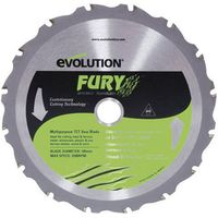 Evolution Evolution Fury 185mm Replacement Multipurpose TCT Blade