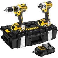 DeWalt DeWalt DCK250P2 18V Hammer Drill, Impact Driver, 2 x 5.0Ah Batteries & Kitbox