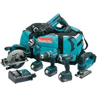 Makita Makita DLX6017 6 Piece LXT 18V Li-Ion Cordless Combo Kit