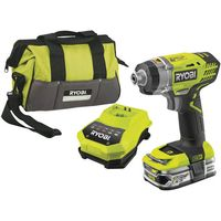 Ryobi Ryobi 18V One+ Impact Driver, 1 x 2.5Ah Battery, Fast Charger And Bag