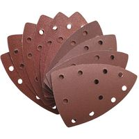 National Abrasives Pack Of 10 Assorted Sanding Sheets for Einhell RT-OS13