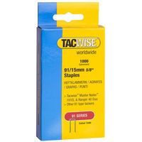 Tacwise Tacwise 91/15mm Galvanised Staples Pack of 1000
