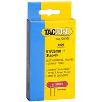 Tacwise Tacwise 91/25mm Galvanised Staples Pack of 1000