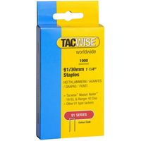 Tacwise Tacwise 91/30mm Galvanised Staples Pack of 1000