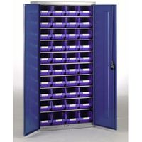 Machine Mart Xtra Barton Topstore Container Cabinet with 40 x TC3 Blue Containers