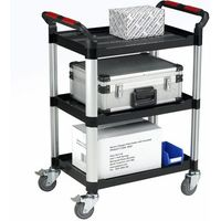 Machine Mart Xtra Barton Utility Tray Trolley - 3 Shelves